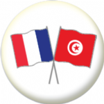 France and Tunisia Friendship Flag 25mm Pin Button Badge